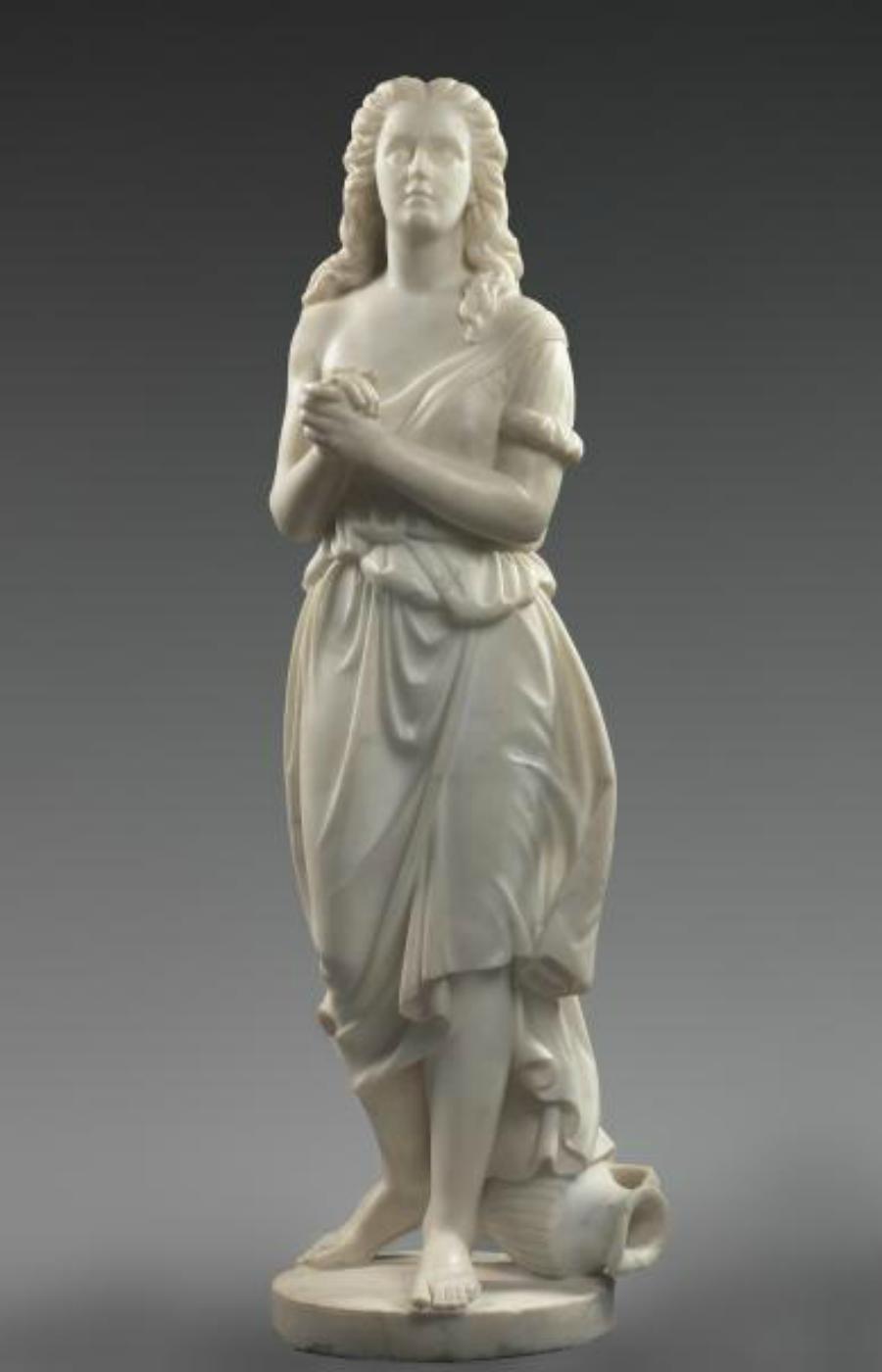 Edmonia Lewis, Hagar , 1875, mármol tallado, Smithsonian American Art Museum, regalo de Delta Sigma Theta Sorority, Inc.
