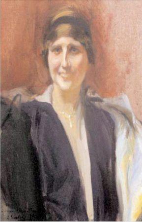 Retrato de Zenobia Camprubí, obra de Joaquín Sorolla.