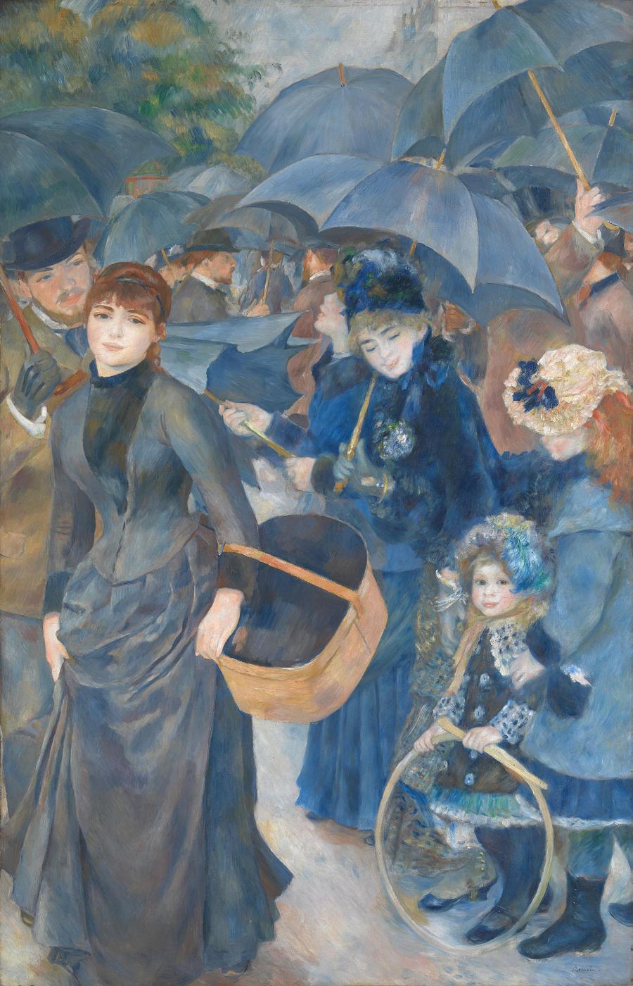 Pierre Auguste Renoir, Les parapluies, ca. 1881-86 National Gallery de Londres. Suzanne Valadon