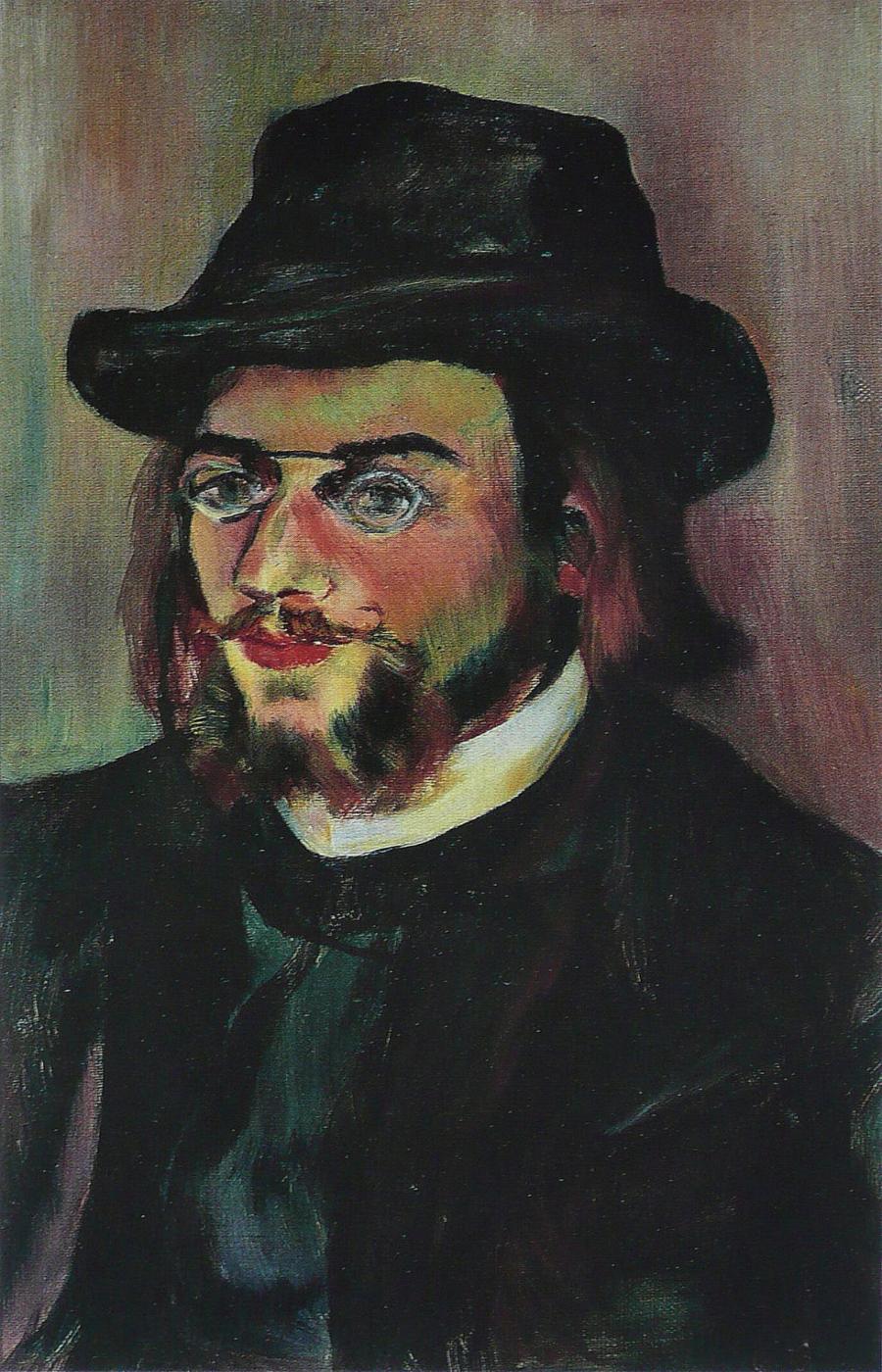Retrato de Erik Satie. Suzanne Valadon