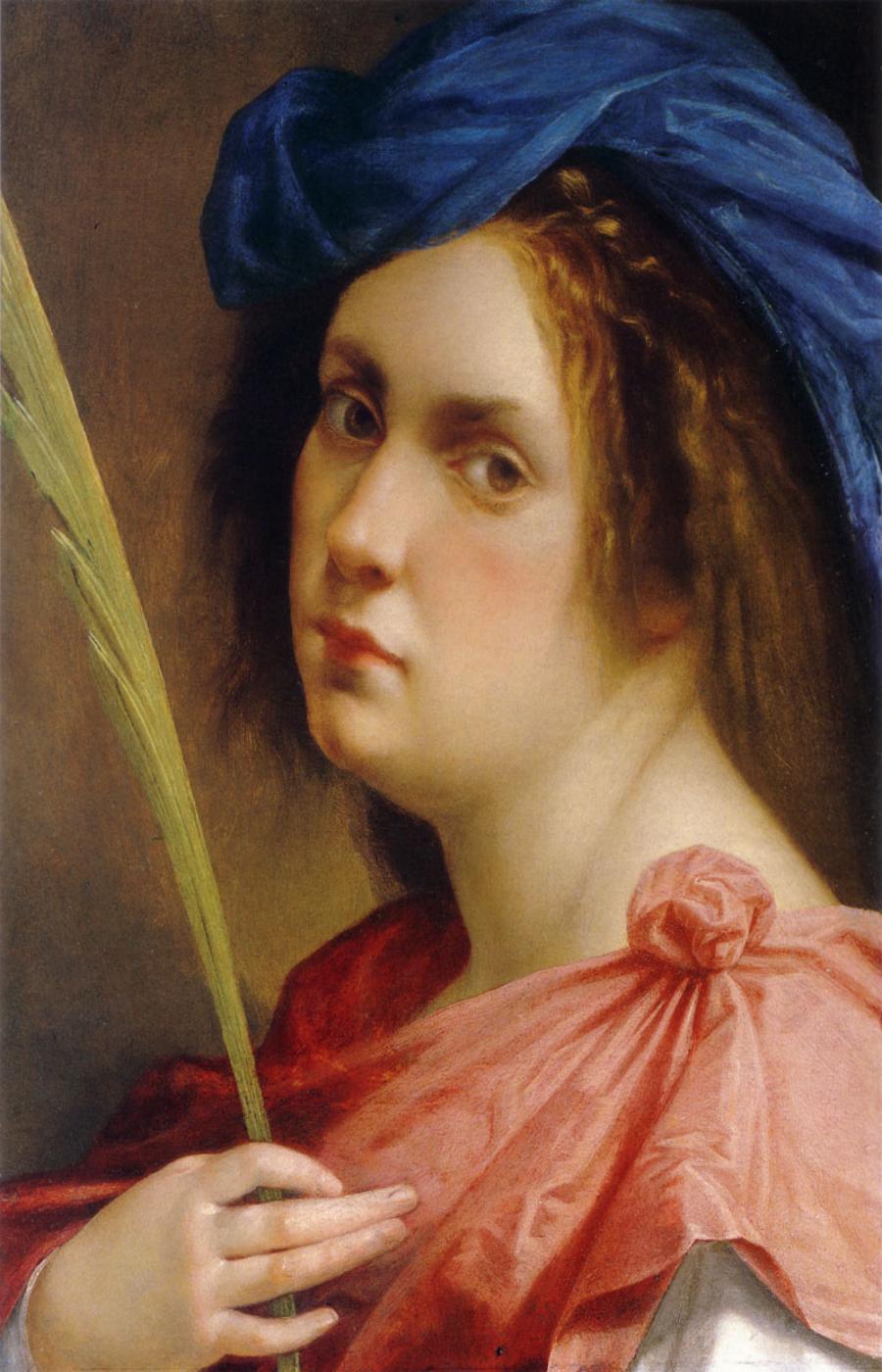 Artemisia Gentileschi. Autorretrato como mártir, Colección privada