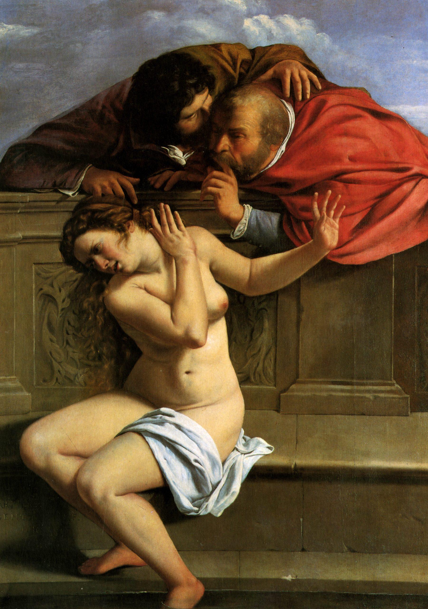 Artemisia Gentileschi. Susana y los viejos, Colección Schönborn, Pommersfelden