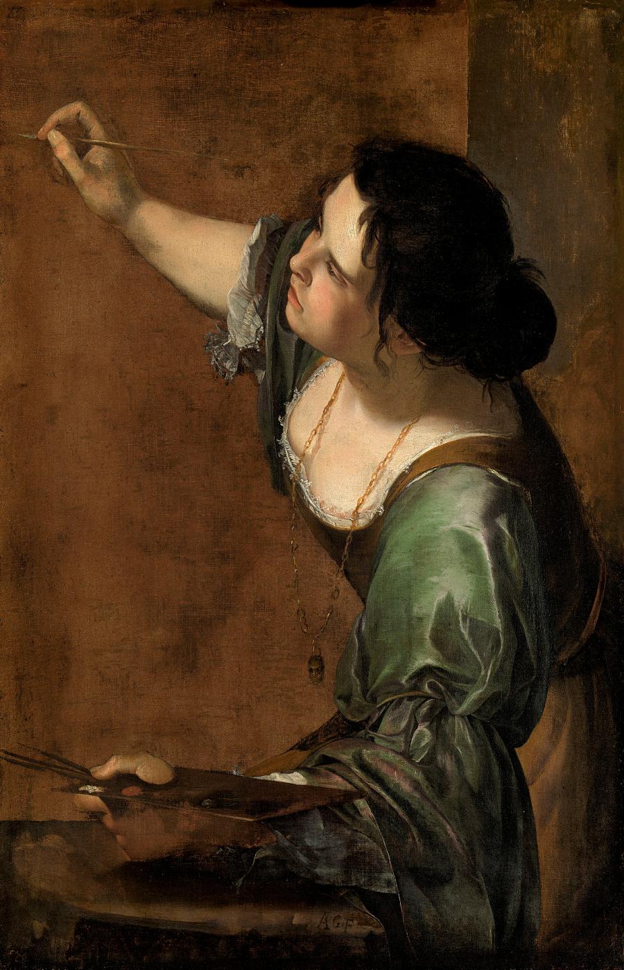 Artemisia Gentileschi. Autorretrato como alegoría de la pintura