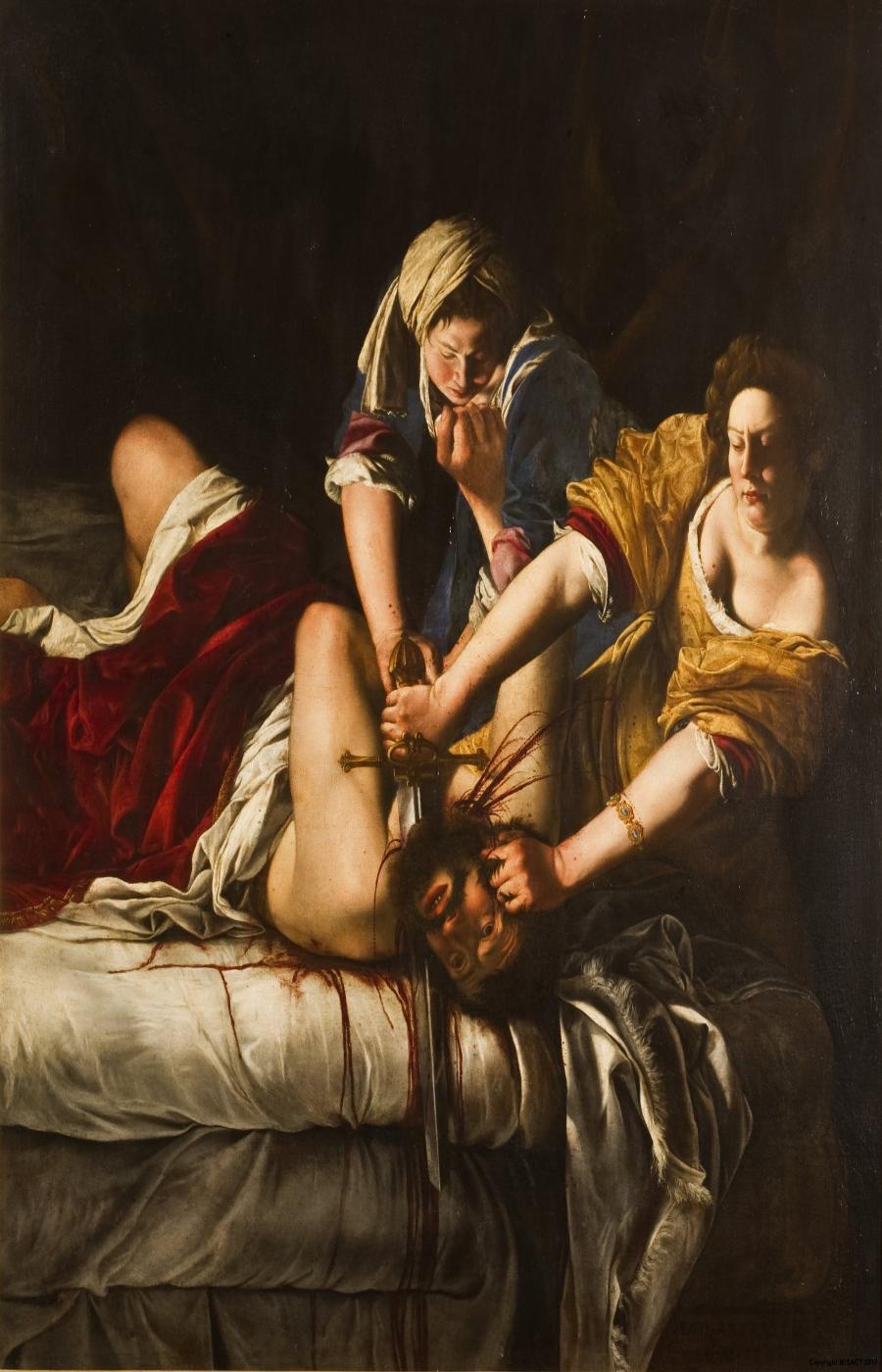 Artemisia Gentileschi. Judith decapitando a Holofernes