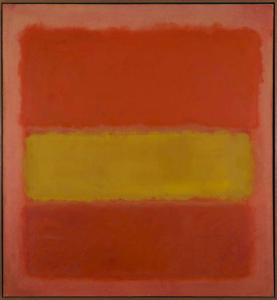 Mark Rothko.Yellow Band, 1956. Sheldon Museum of Art, University of Nebraska – Lincoln. Sheldon Art Association, Thomas C. Woods Memorial, N-130.1961 © 1998 Kate Rothko Prizel and Christopher Rothko/VEGAP, Bilbao, 2016 Fotografía: © Sheldon Museum of Art