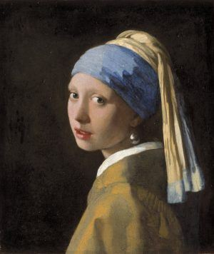 La joven de la perla. Johannes Vermeer Girl with a Pearl Earring, c. 1665 Mauritshuis, The Hague