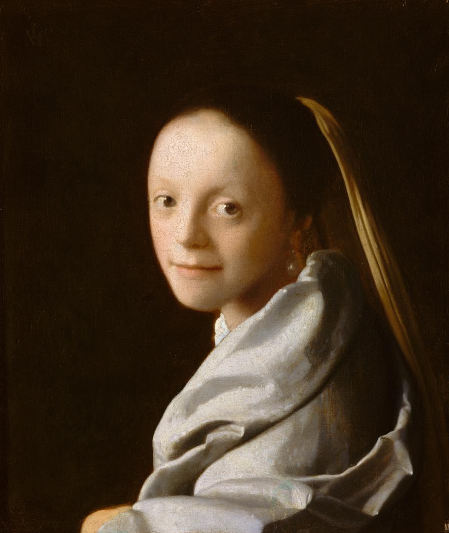 ¿Por qué nos mira así la joven de la perla? (I). Retrato de una mujer joven. Johannes Vermeer. 1666-1667. MET. Nueva York.