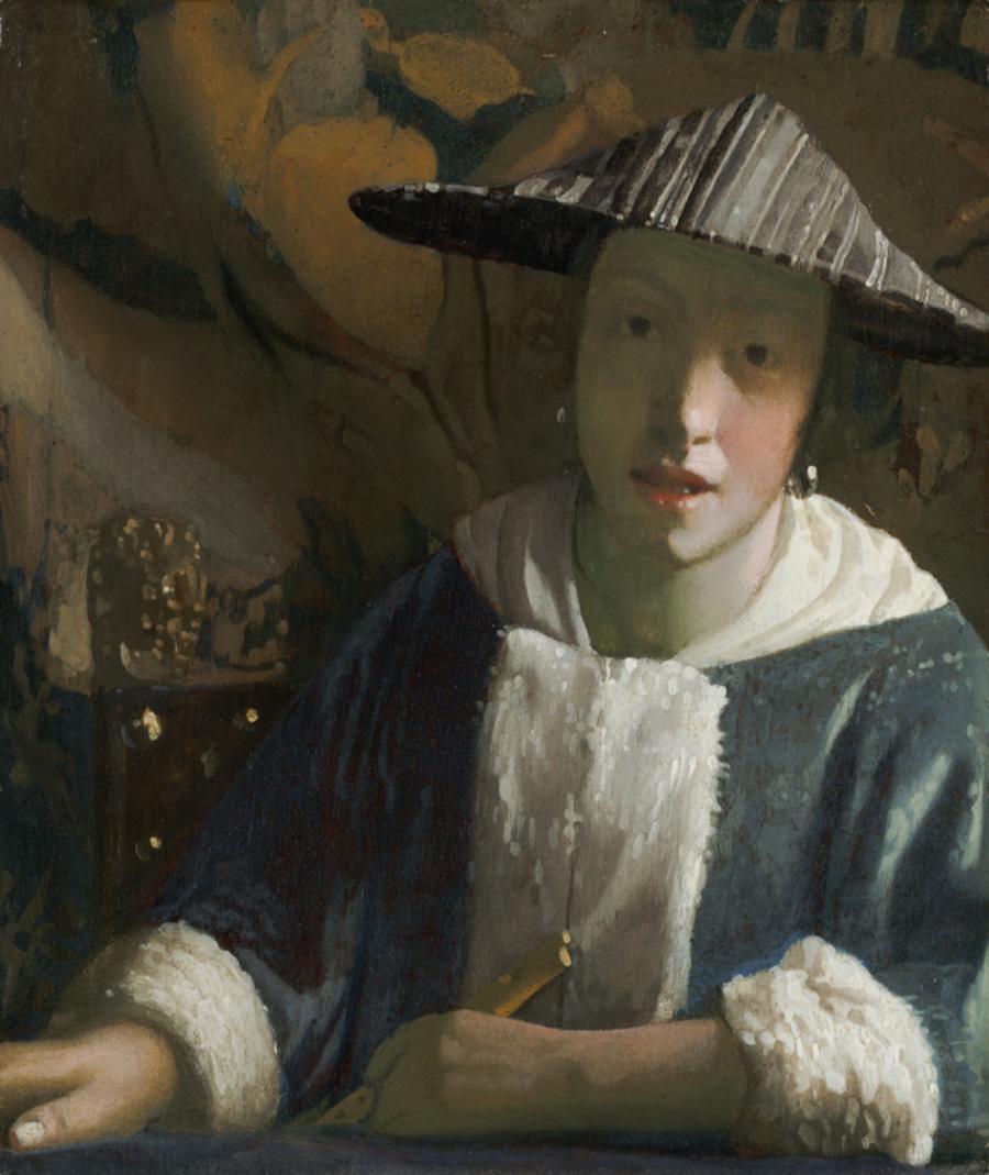 ¿Por qué nos mira así la joven de la perla? (I).Muchacha con flauta. Johannes Vermeer (atribuído). 1667. National Gallery of Art (Washington).
