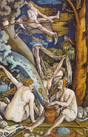 Michée Chauderon, la última bruja de Ginebra. Imagen: Le Sabbat des sorcières. Hans Baldung (1508).